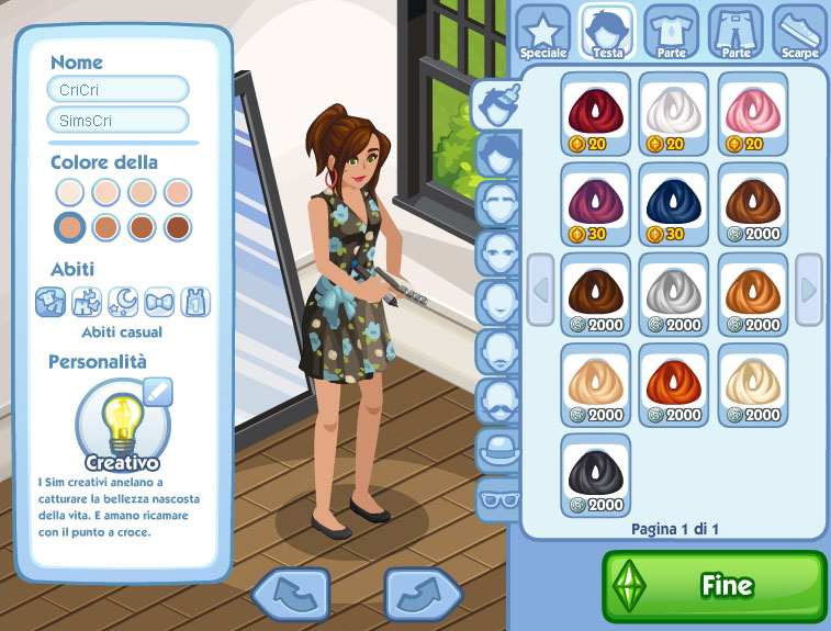 sims-social review cas